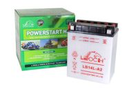 Leoch YB14LA2 / YT14L-A2 / CT14LA2 - Dry Charged Motorcycle Battery + Acid Pack
